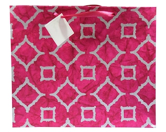 Luxury Moroccan Pink Gift Bags (Pack of 3)