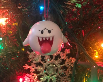 Boo Ghost Holiday Christmas Ornament