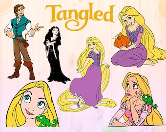 Tangled Svg, Rapunzel Svg, Tangled Disney princess Dxf, Eps & Png files, Rapunzel Cut files, princess files for Cricut, Silhouette cameo,