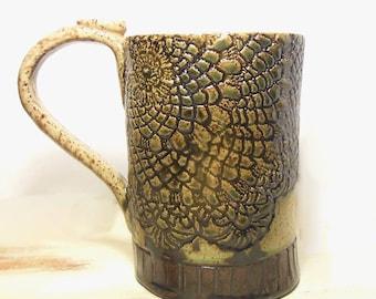 Quinlan Glass Handmade Handbuilt Stoneware Pottery Mug/Beerstein