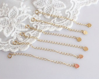 14k solid gold extension chain for necklace and bracelet, chain extender CET-N1111