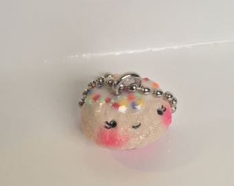 Hundreds and Thousands Cupcake Key Chain (Pink)