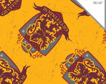Stretchy Harry Potter Griffindor Cotton Knit fabric