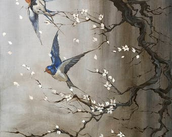 Cheating Death | Swallows and Blossoms | Fine Art Prints