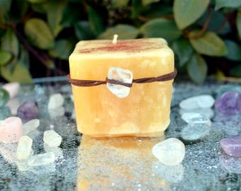 Enchanted Flame Candle, Meditation Candle, Slow Burning Candle, Hand Poured Candle, Candle, Fairy Candle, Fairy Dust Candle, Fairy Magic