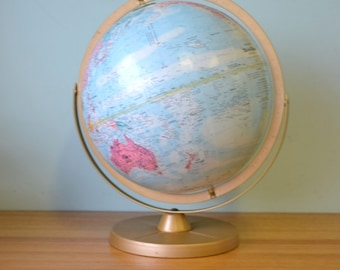 Reserved for Louisa:Vintage Repogle World globe map retro