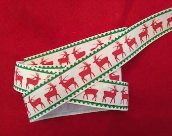 """Reindeer Grosgrain Ribbon 1"""""""
