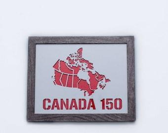 3D Stencil | Canada 150 | Map of Canada