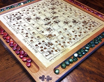 Engraved Sequence Game Board