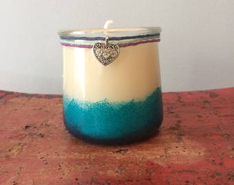 Grapefruit and tangerine scented candle / hand poured soy wax / 20+ hour burn time