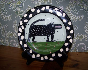 Whimsical Dog Plate by Droll Designs