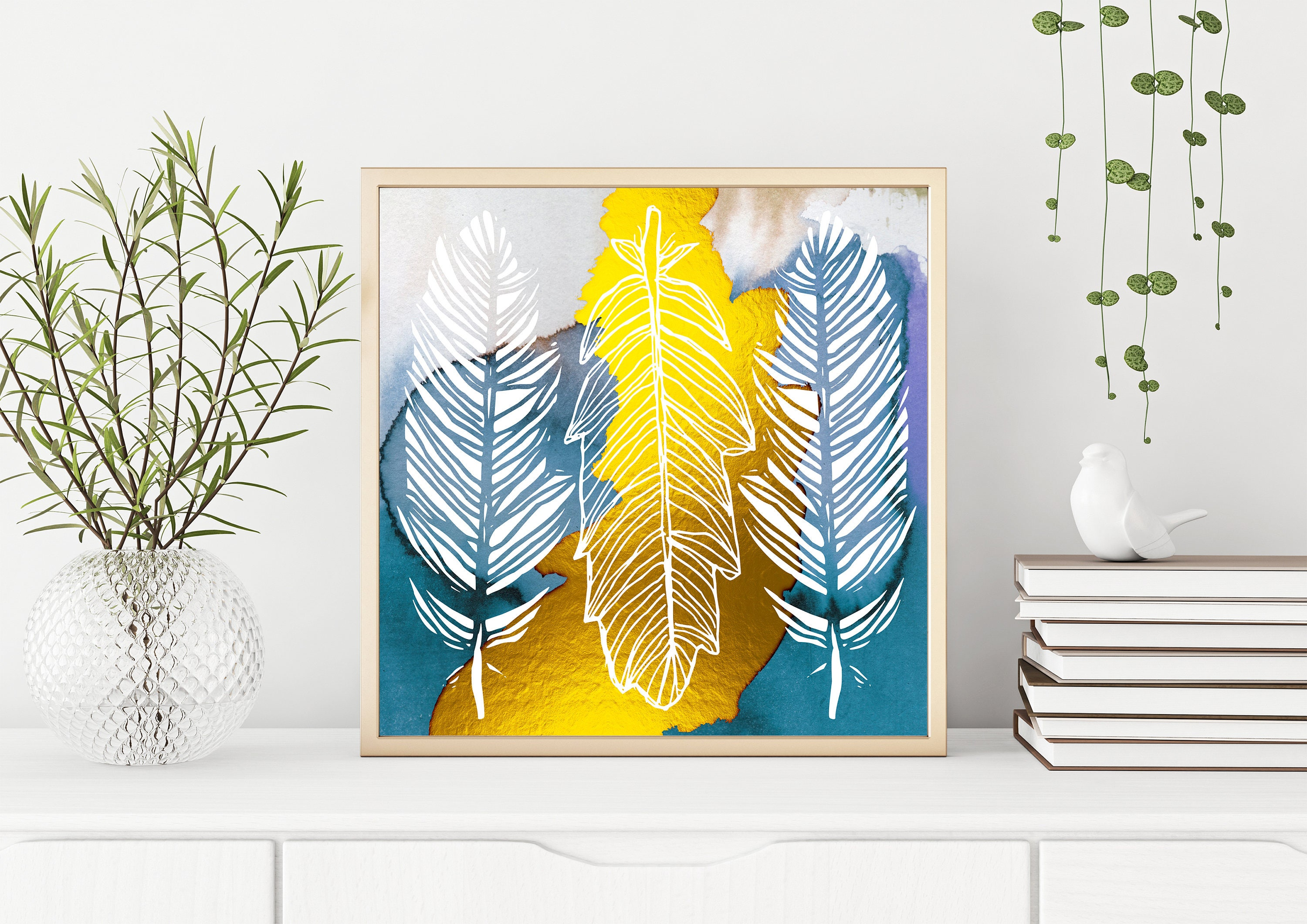 Stunning Metal Feather Wall Decor Images - The Wall Art Decorations ...