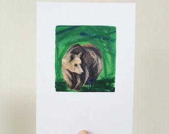 Bear and Flower Print