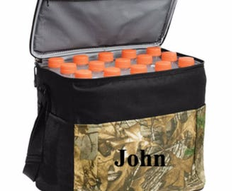 Monogrammed Camouflage 24-Can Cube Cooler