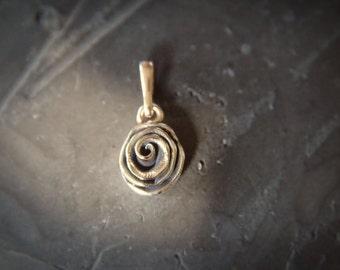 Bronze Rose pendant