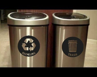 Recycle and Trash Decal Set