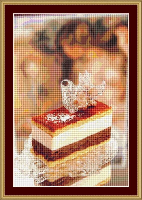 Chocolate Cake Cross Stitch Pattern /Digital PDF Files /Instant downloadable