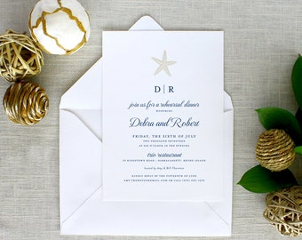 Starfish Rehearsal Dinner Invitations, Starfish Rehearsal Dinner Invitations, Starfish Rehearsal Dinner Invitations