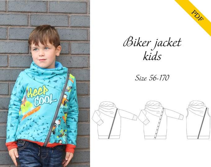 Biker jacket 56-170 PDF-pattern