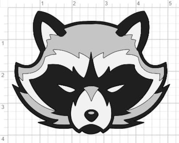 Raccoon Face Design SVG PDF EPS Dxf & Studio 3 Cut Files Raccoon Face Clip Art