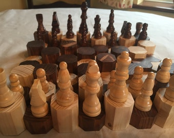 Giants Causeway chess board wooden gift centrepiece
