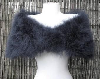 Black Marabou Feather Shrug / Stole / Shrug - Two Sizes