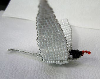 Miniature Stern bird seed beads and copper wire