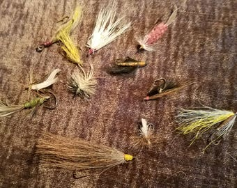 Vintage Fly Fishing Lures set of 12