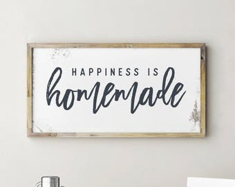printable sign happiness is homemade happiness is homemade sign happiness is homemade - Kitchen Wall Decor