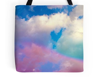 Rainbow Tote, Clouds Tote, Rainbow Picture, Clouds Bag, Rainbow Tote Bag, Rainbow Bag, Rainbow Book Bag, Rainbow Photo Bag, Rainbow Photo