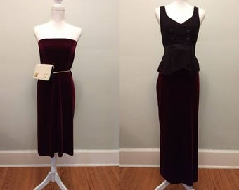 Velvet skirt or tube dress / S