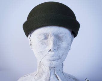 Medieval hat fleece felt cap