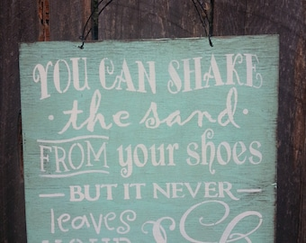 beach decor, beach house, You Can Shake The Sand From Your Shoes Sign, Beach Sign, Beach Saying, ocean decor, beach house decor, 136/235