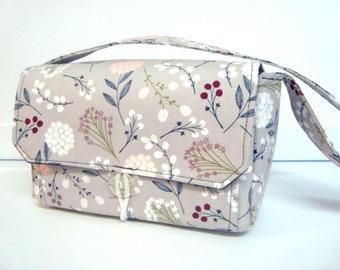 Large 4 inch Size Coupon Organizer / Coupon Bag Budget Holder Box Attaches to Your Shopping Cart Berry Floral - Select Your Size