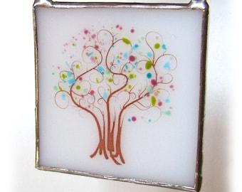 Sweet Dreams Tree Fused Glass Suncatcher Light Catcher