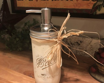 Farmhouse Mason Jar Soap Dispenser