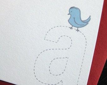 color me monogram notecards