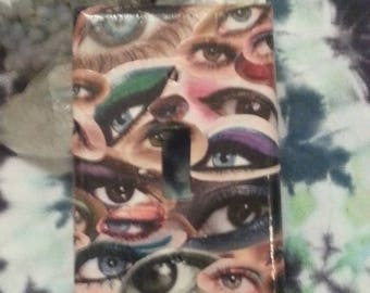 light switch cover eyes trippy switch home decor