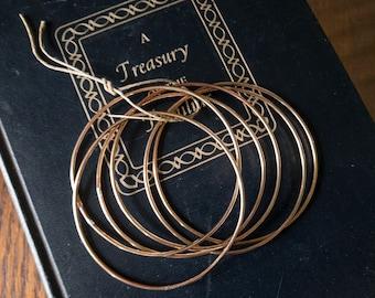 Six large Bronze Bangles - Silversmith - Metalsmith Jewelry