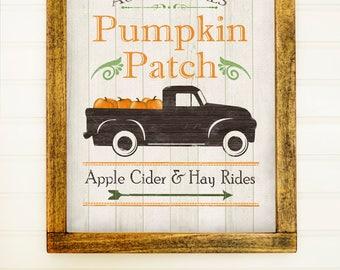 Fall Print - Fall Wall Art - Pumpkin Print - Pumpkin Patch - Fall Decor - Pumpkin Decor - Autumn Print - Harvest Print - Rustic Fall Decor -
