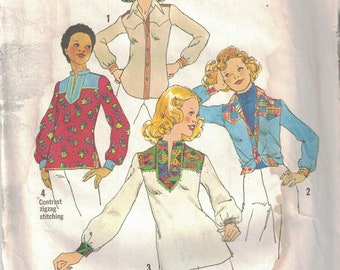 7913 Simplicity Misses Sewing Pattern UNCUT Shirts 6 and 8
