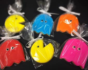 Pac Man Sugar Cookies