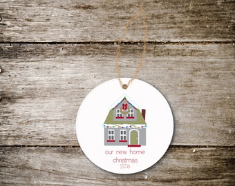 Christmas Ornament New Home, We've Moved, New House, Christmas Gift, Housewarming Gift, Ornament for New Home, First Home