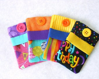 Gift Card Holder Gift Card Cozy, 4-Pack, Gift Card Envelope Gift Box Gift Envelope Cute Gift Card Happy Birthday Card Holder Birthday Gift