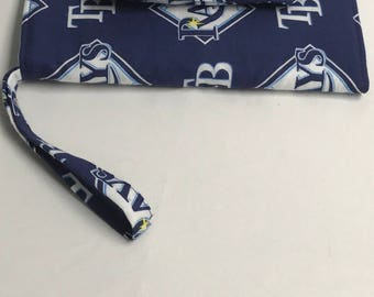 The Batter Up: Cell Phone Wallet (Tampa Bay Rays Print)