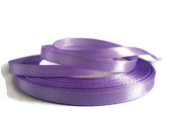 Purple 6 mm satin ribbon