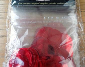 Sequins: red discs size 25mm