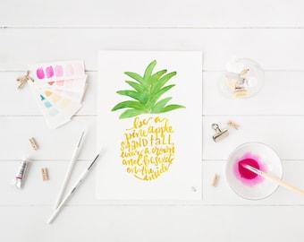 pineapple digital print