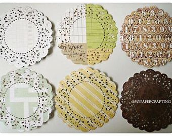 Parisian Lace Doily This & That: Charming for Scrap booking or card making / pack