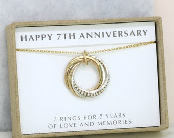 7th anniversary gift, meaningful gift for wife, 7 year wedding anniversary gift, gift for girlfriend - Lilia